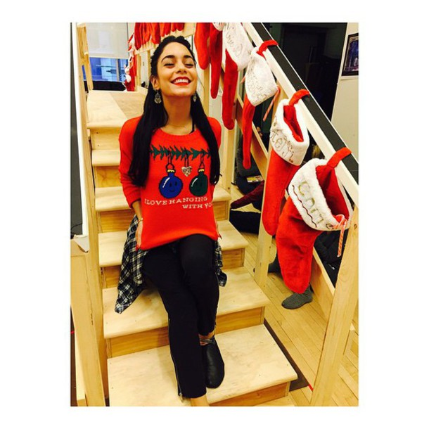 sweater vanessa hudgens holiday season christmas