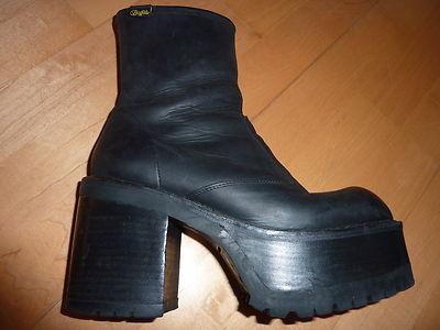 brand new 37edc 7ed96 RAR Buffalo Leder Plateau 39 40 Gothic Cyber Stiefeletten Stiefel getragen  | eBay