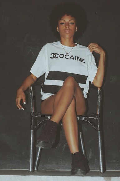 white shirt t-shirt t-shirt t-shirt cocaine