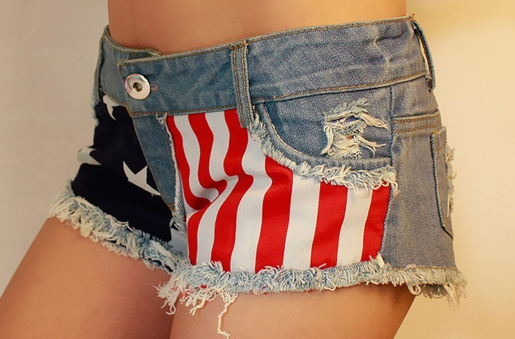 Sale!!2013 Fashion high quality women Sexy USA Flag Denim jean short  hole ladies Jeans Shorts mini pant Freeshipping-in Jeans from Apparel & Accessories on Aliexpress.com