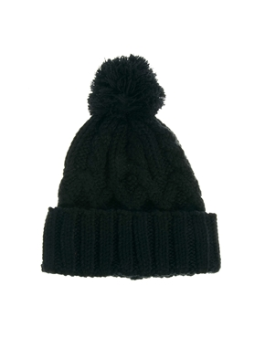 ASOS | ASOS Cable Pom Beanie at ASOS