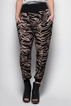 Sarah tiger print harems at boohoo.com
