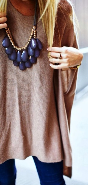 jewels oversized blue maxi