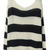 Black White Striped Loose Pullovers Sweater - Sheinside.com