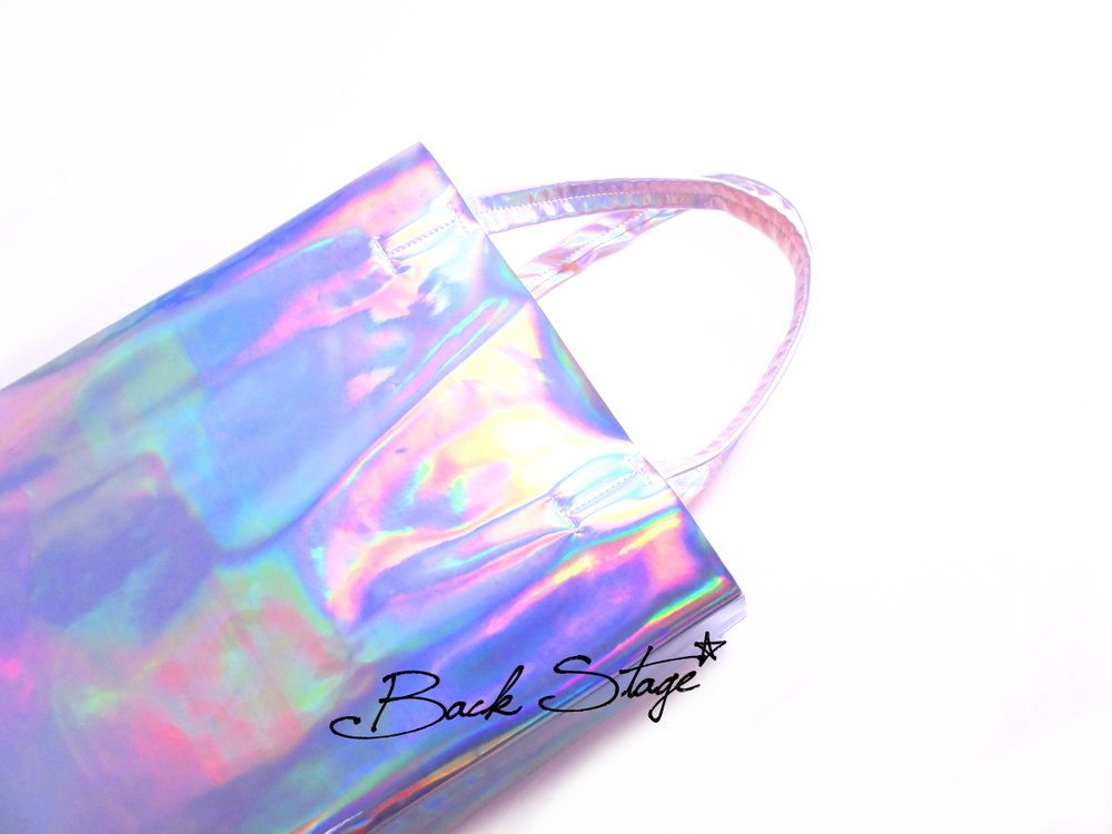 Limited Edition - 2.0 Handmade Hologram Holographic Metallic Mirrors Clutch Handbag Tote Bag | Back Stage*