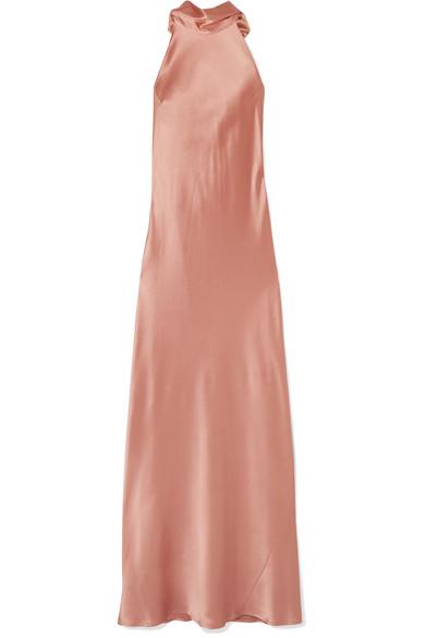 Galvan - Silk-satin maxi dress