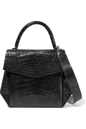 bag shoulder bag crocodile black