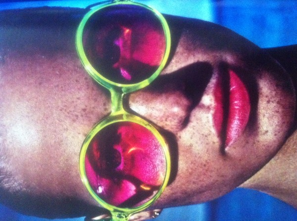 pink green round vintage sunglasses