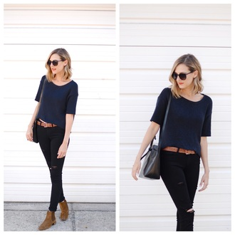 see jane blogger jeans sweater shoes