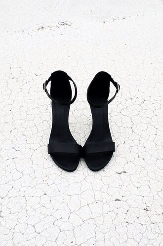 shoes high heels straps strappy heels black heels ankle strap heels