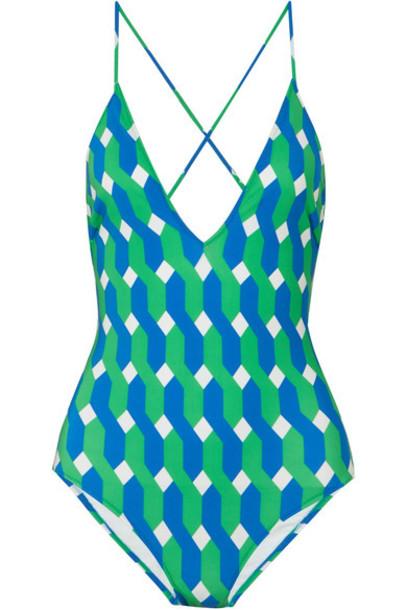 Emma Pake lace turquoise swimwear