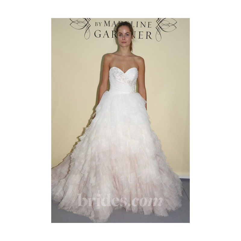 Mori Lee - Spring 2013 - Style 1924 Ivory and Pink Organza Ball Gown Wedding Dress with Beaded Details - Stunning Cheap Wedding Dresses Prom Dresses On sale Various Bridal Dresses