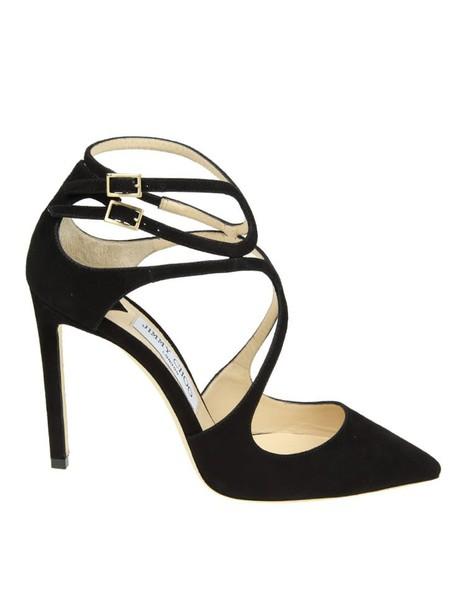 Jimmy Choo 100 pumps suede black shoes