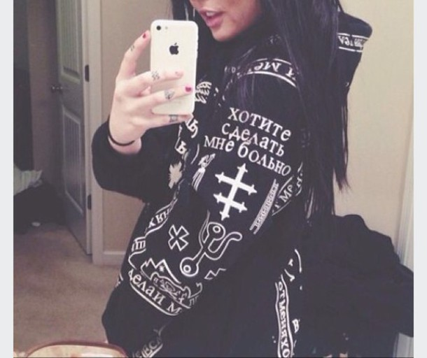 coat jacket occult black hoodies