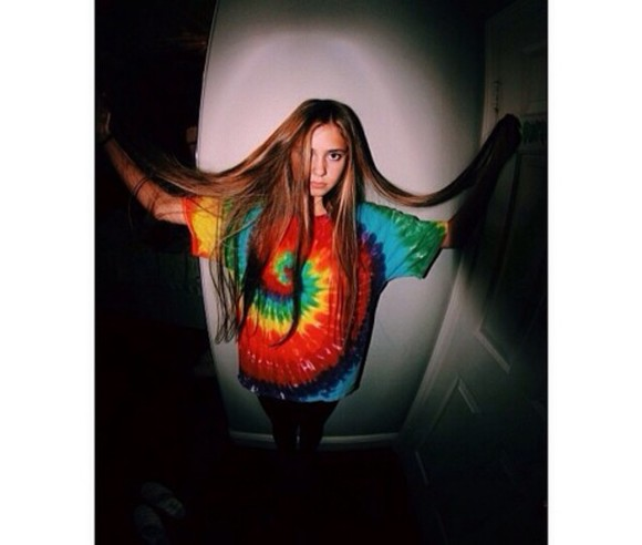 shirt mens shirt tie dye t-shirt instagram long hair leggings rainbow dark mens t-shirt menswear