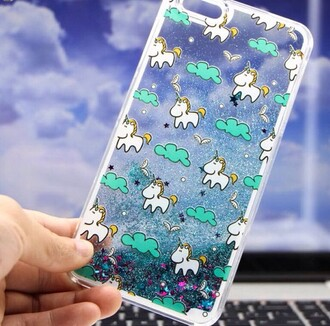 phone cover blue glitter trendy unicorn sparkle iphone case teenagers boogzel