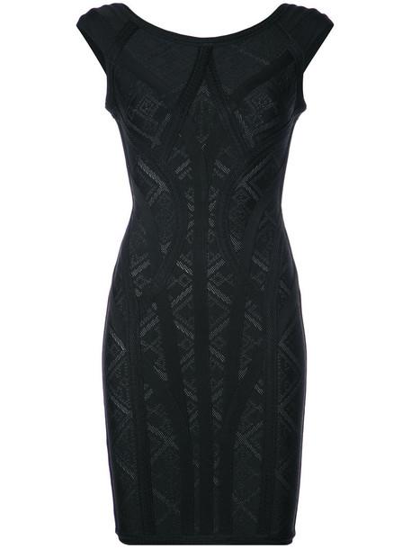 dress women spandex geometric black