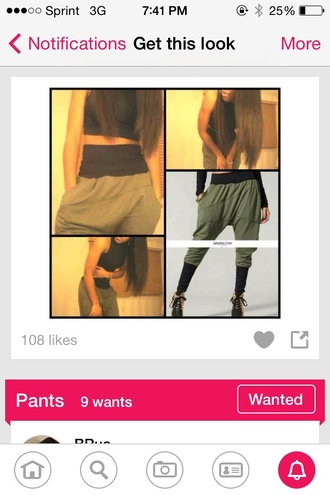 pants harem pants bottoms up green cute girly swag sexy tomboy edgy baggy pants style sweatpants hot pants stylish summer outfits olive gree clothes fashion fall outfits tumblr outfit tumblr tumblr clothes tumblr girl harem harem sweatpants thug life lovely pepa cool perfecto cool girl style comfy comfy outfits