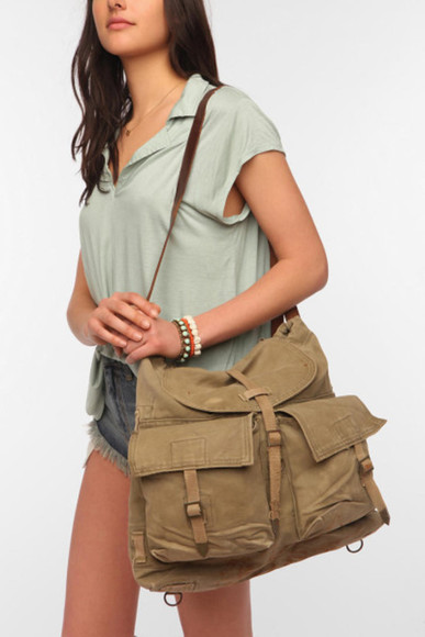 military clothes bag pretty #bags bags for women bags for back to school bags 2014 oldschool