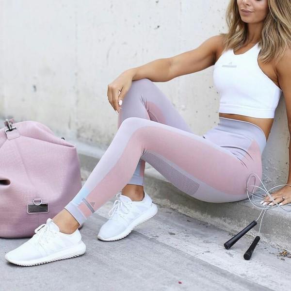 13db98834483f Adidas By Stella McCartney   Pink Tight Leggings   Lyst
