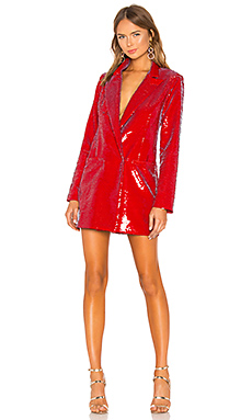 h:ours Trixy Blazer Dress in Red Gaga from Revolve.com