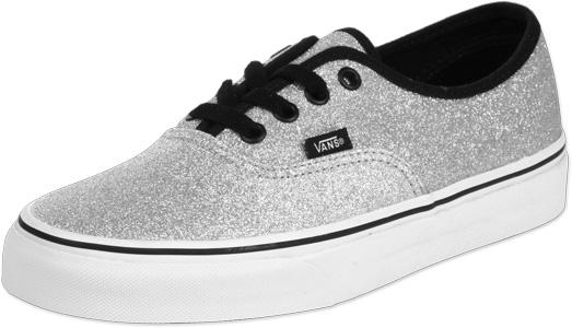 Vans authentic shoes glitter silver