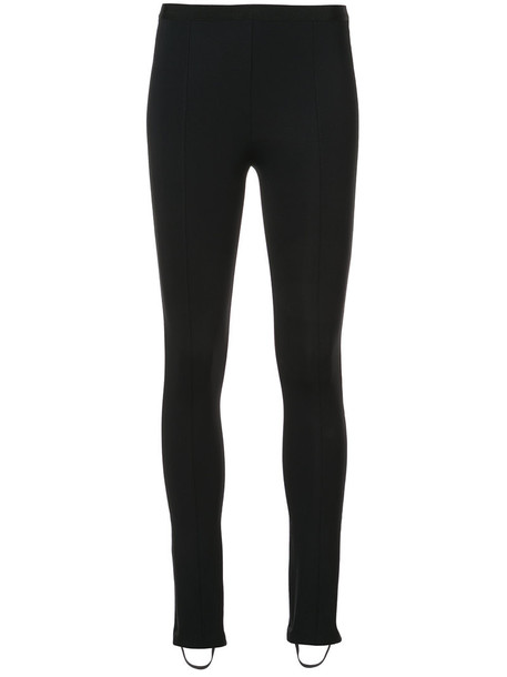 Helmut Lang leggings women spandex cotton black pants