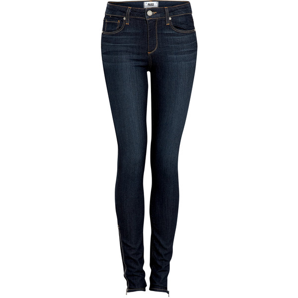Paige Denim Indigo High-rise Hoxton Ultra Skinny Jeans - Polyvore