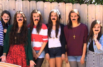 shirt katherine cimorelli cimorelli purple red blue shorts moustache dani cimorelli lisa cimorelli christina cimorelli lauren cimorelli amy cimorellli cross music youtube funny nice awesomness favorite