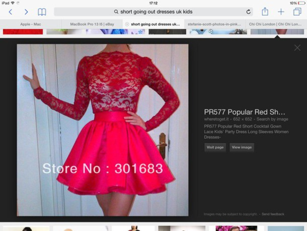 dress blouse red lace prom