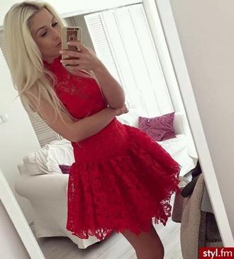 dress prom dress lace dress lace red dress red red prom dress