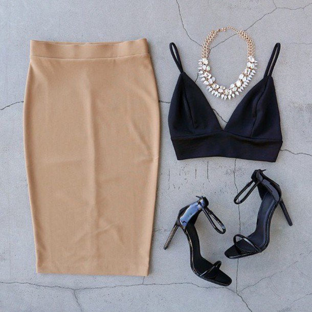 Skirt tan coffee ootn date outfit outfit inspo gojane fashion inspo - Wheretoget