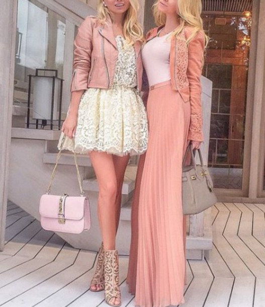 Pink Lace Shoes Outfit