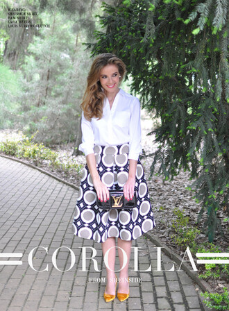 te cuento mis trucos blogger skirt shoes bag shirt