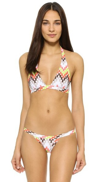 bikini bikini top halter bikini chevron swimwear