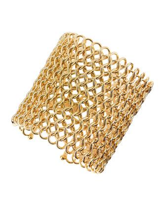 Jules Smith Knight's Armor Golden Mesh Cuff Bracelet (Stylist Pick!)