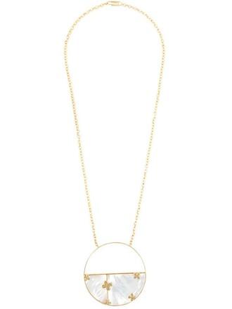 necklace metallic jewels