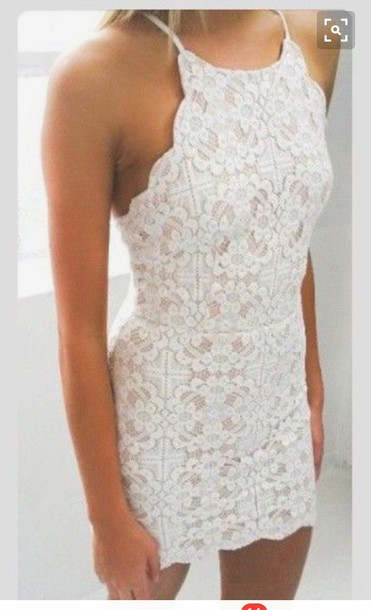 Dress White Boho Hippie Bohemian Boho Dress Cream Lace