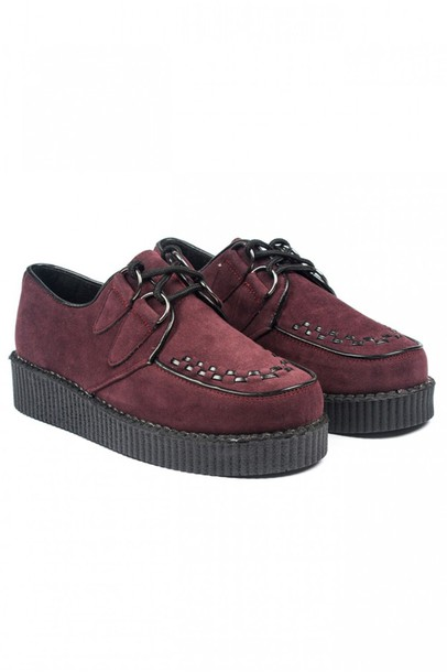 BLACK SUEDE Hanna Monochrome Brothel Creepers Shoes at Mr Shoes UK