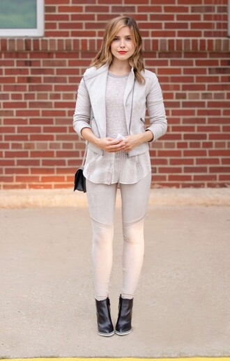 jacket pants fall outfits sophia bush