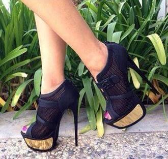 shoes heel heels black heels black gold heels hight heels open toe heels liliana gold heels