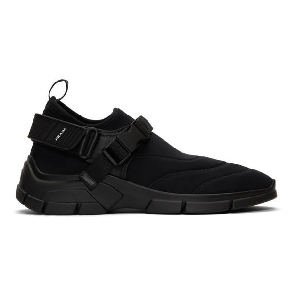 Prada Black Neoprene 6 Sneakers