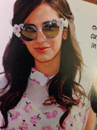 sunglasses floral flowers embellished cat eyes cat eye retro sunglasses