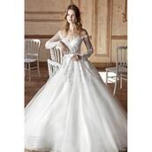 dress,wedding dress,gown,tarik ediz dress,trainers,tulle dress