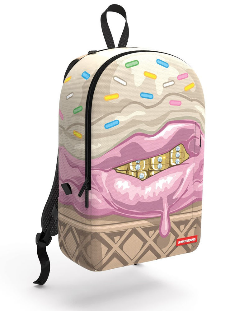 ICE CREAM GRILLZ GRILL GOLD TEETH BACKPACK LAPTOP BOOK BAG
