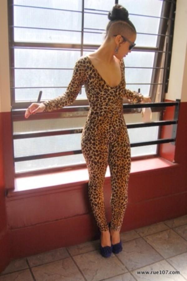 pants leopard print bodysuit