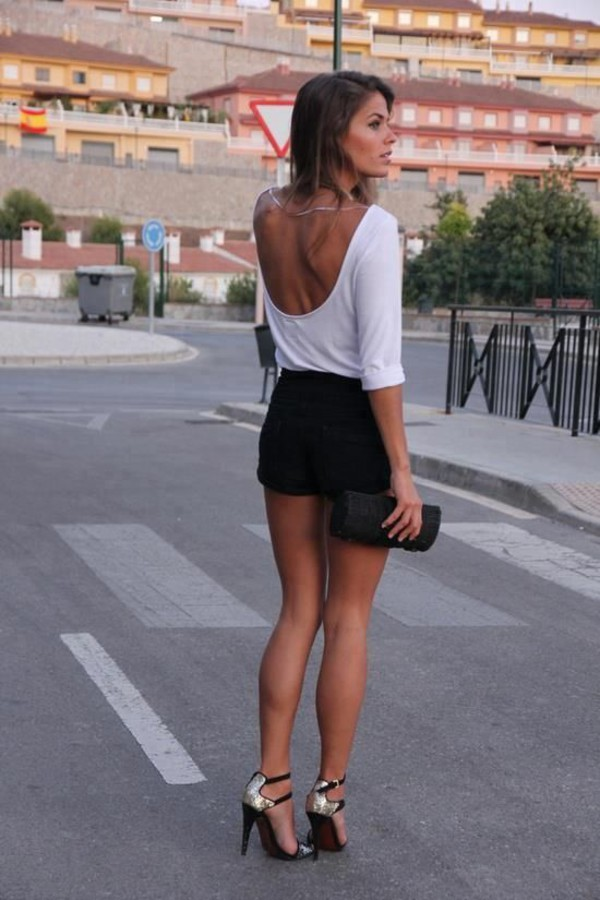 streetstyle fashion style skirt top high heels sandals