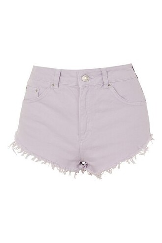 shorts denim lilac