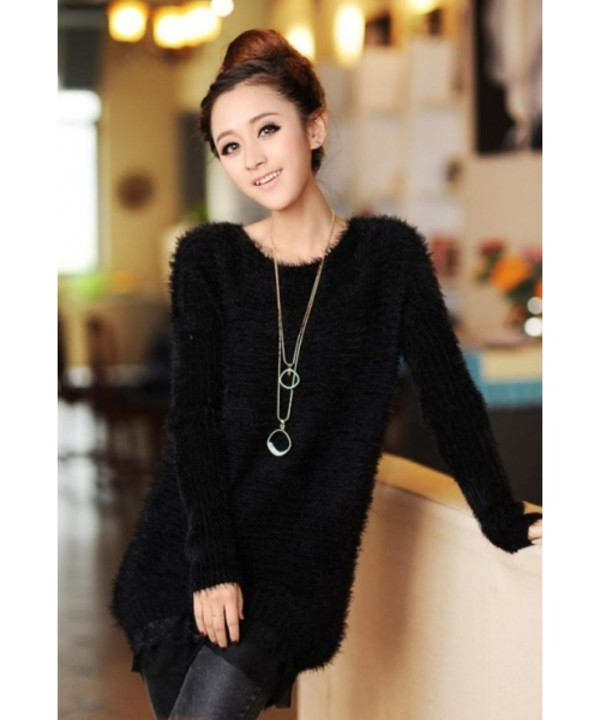 Sweater: knitted sweater, cute, black sweater, streetstyle ...