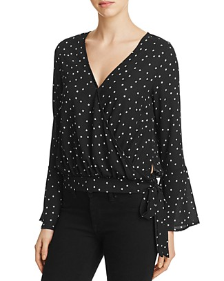 Vintage Havana Side Tie Star Wrap Top | Bloomingdale's